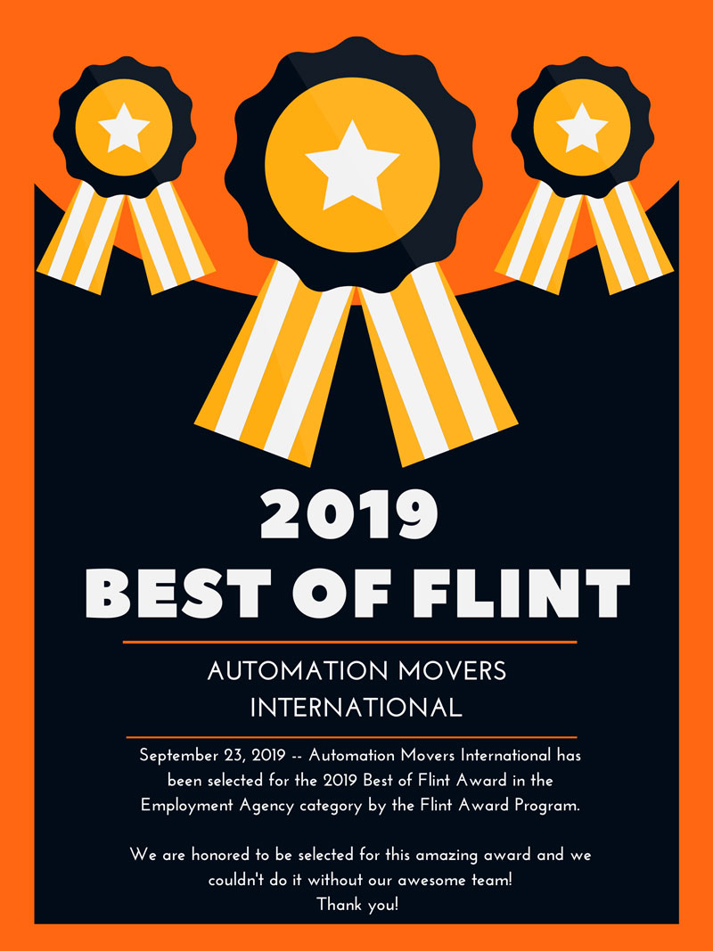 Automation Movers International Receives 2019 Best of Flint Award
