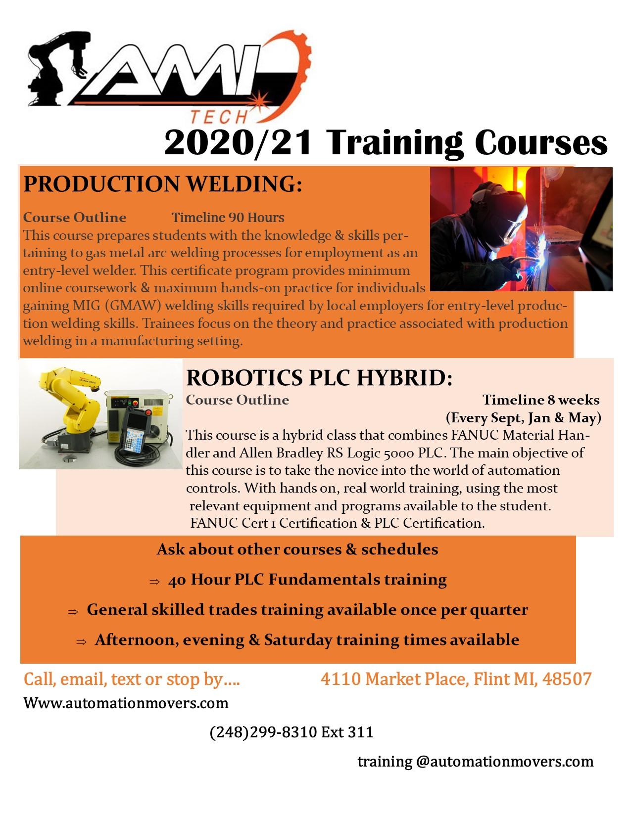 2020/21 Training Flyer